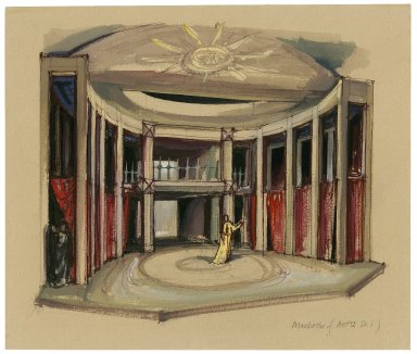 Mermaid theatre set design for Macbeth