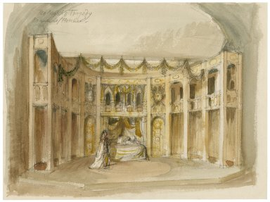 Mermaid theatre set design for The Maid's Tragedy (Beaumont & Fletcher)