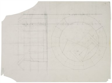 Sketch floorplan and elevation for Globe reconstruction