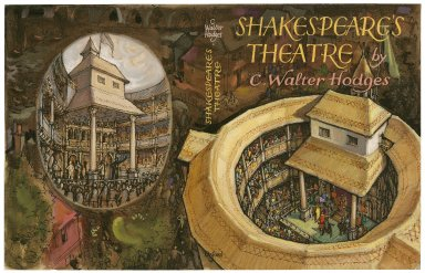 Finished design for bookjacket for Shakespeare's Theatre (by Hodges, Oxford University Press, 1964)
