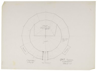 Second Globe, trial floorplan sketch