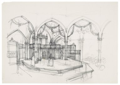 Design sketch for St. Georges Theatre, interior