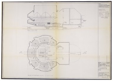 Plan for St. Georges Theatre, lower level, Jan. 1970, Davies & Partners