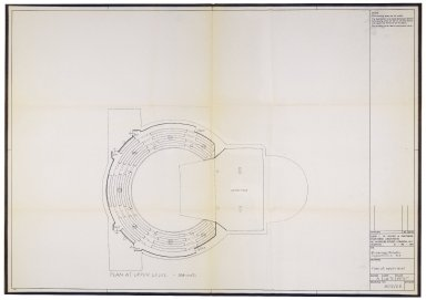 Plan for St. Georges Theatre, upper level, Jan. 1970, Davies & Partners