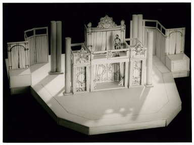 Model of St. Georges Theatre stage