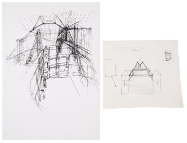 Interior and exterior sketches of the Second Globe