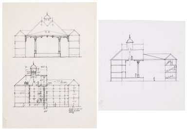 Elevation sketches for the Detroit Globe