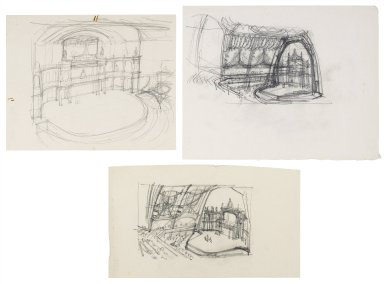 Sketches for a stage in the Mermaid theatre