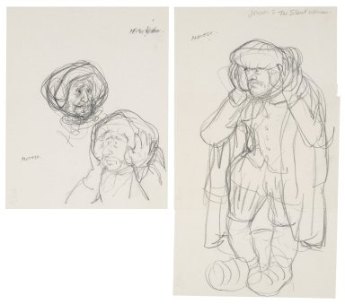"Character sketches for Morose in ""The Silent Woman"""
