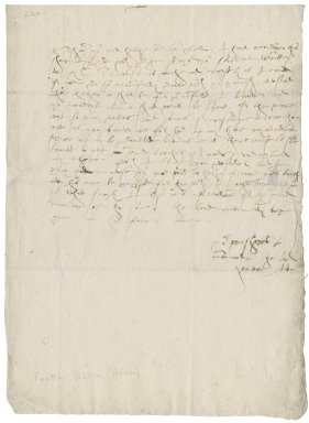 Letter from Allen, Walter[?] to Nathaniel Bacon
