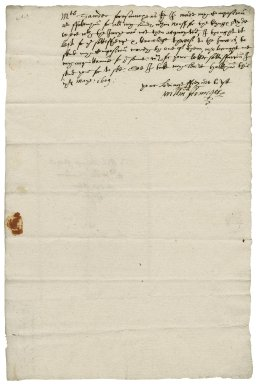 Letter from William Armiger to William Sander