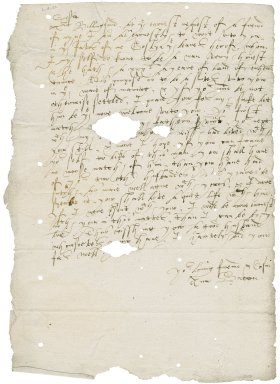 Letter from Lady Anne (Gresham) Bacon to Mrs. Billingford