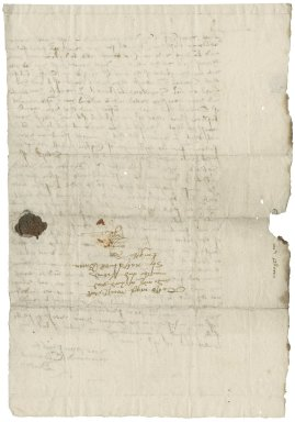 Letter from Clement Bacon to Nathaniel Bacon