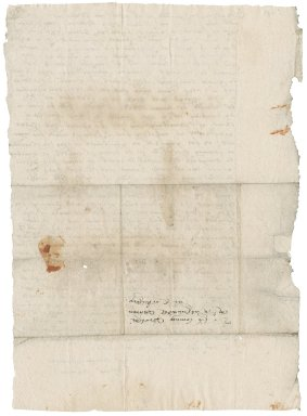 Letter from Sir Edward Bacon to Nathaniel Bacon