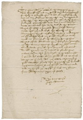 Letter from John Bacon to [Nathaniel Bacon?]
