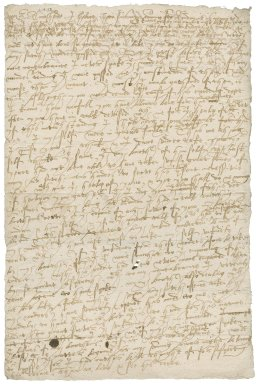 Letter from Nathaniel Bacon to Roger Townshend (1543?-1590) : copy