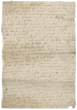 Letter from Nathaniel Bacon to [Sir Thomas Gresham] : copy