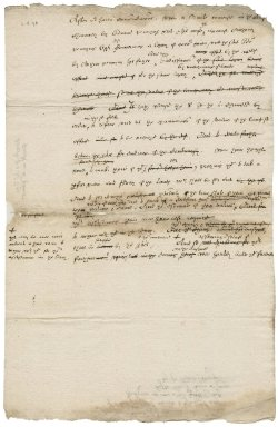 Letter from Nathaniel Bacon to the surveyors in the Penning case : draft