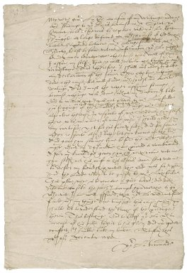 Letter from Nathaniel Bacon to Roger Lord North, Steward of the Duchy of Lancaster in Norfolk, Suffolk, and Cambridgeshire : copy