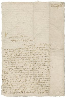 Letter from Nathaniel Bacon to Edward Bacon : copy