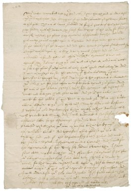 Letter from Nathaniel Bacon to Roger, Lord North : copy