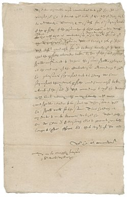 Letter from Nathaniel Bacon to William Cecil, Lord Burghley, Lord Treasurer and Sir Walter Mildmay, chancellor of the Exchequer : copy