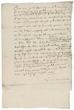 Letter from Nathaniel Bacon and William Blennerhasset to Sir Christopher Hatton, Lord chancellor : copy