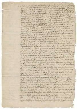 Letter from Nathaniel Bacon to Lady Elizabeth Neville : copy