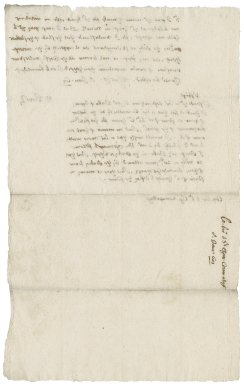 Letter from Nathaniel Bacon to Sir Charles Cornwallis