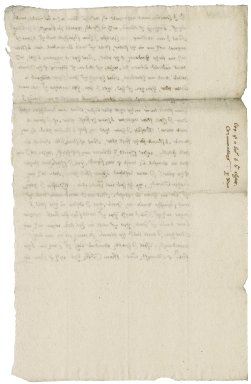 Letter from Nathaniel Bacon to Sir Charles Cornwallis : copy