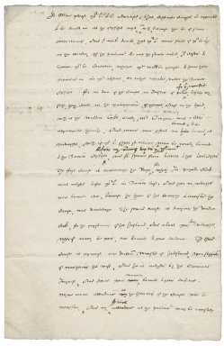 Letter from Nathaniel Bacon to Sir Edward Coke : copy