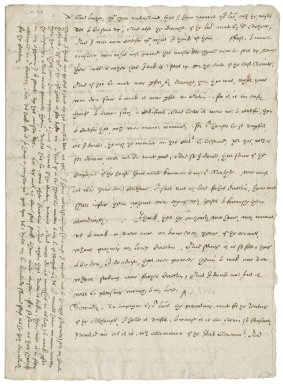 Letter from Nathaniel Bacon to Sir Henry Gawdy : copy