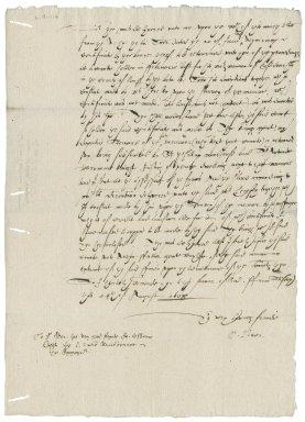 Letter from Nathaniel Bacon to John Osborne : copy