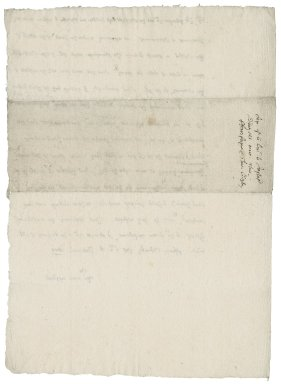 Letter from Nathaniel Bacon to Daniel Justice : copy