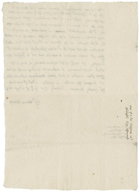 Letter from Nathaniel Bacon to the Duchy Stewards : copy