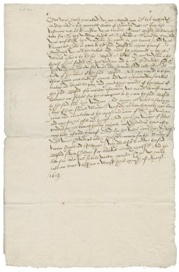 Letter from Nathaniel Bacon to Lord Ellesmere : copy