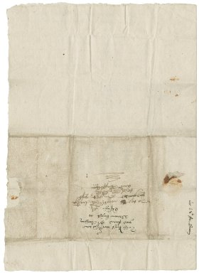 Letter from Nathaniel Bacon to Sir Anthony Browne