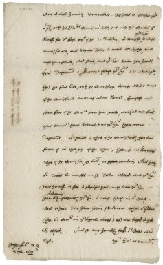 Letter from Nathaniel Bacon to the Privy Council : draft