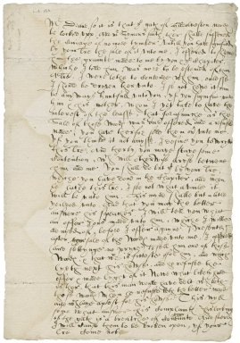 Letter from Nathaniel Bacon to George Gardner, Dean of Norwich : copy