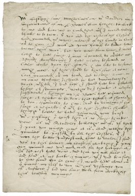 Letter from Nathaniel Bacon to Mr. Hastings : copy