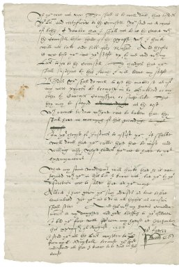 Letter from Sir Nicholas Bacon, lord keeper, to Nathaniel Bacon