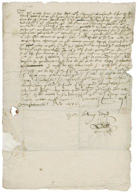 Letter from Robert Bacon to Nathaniel Bacon