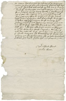 Letter from William Bacon to Martin Man