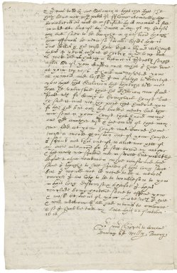 Letter from William Bacon to Nathaniel Bacon
