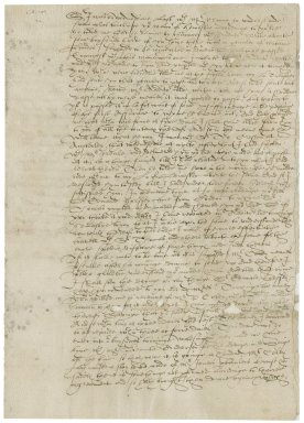 Letter from John Baker to Nathaniel Bacon