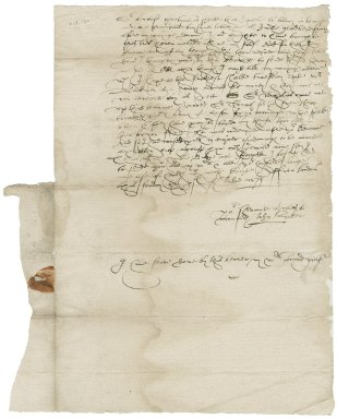 Letter from John Baker to [Nathaniel Bacon]