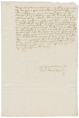 Letter from Edmond Banyerd to Sir Nicholas Bacon, lord keeper