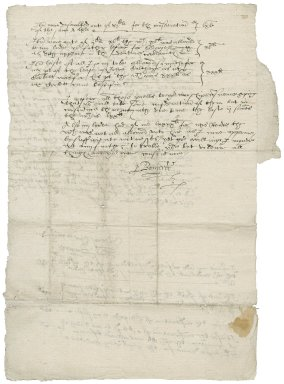 Letter from Edmond Banyerd to Sir Nathaniel Bacon