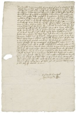 Letter from John Banyerd to Sir Nicholas Bacon, lord keeper