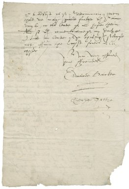 Letter from Edward Barker and George Toftye to Mr. Townshend at his house in Red Cross Street